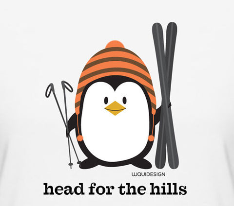 Penne the Penguin Head For The Hills Women's T-Shirts