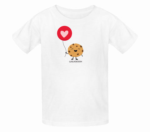 Happy Cookie Love Balloon Kids T-Shirts