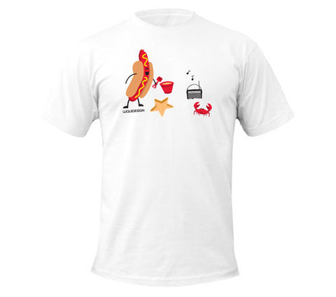Jonah Hot Dog Day Afternoon Men's T-Shirts