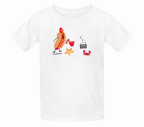 Jonah Hot Dog Day Afternoon Kids T-Shirts