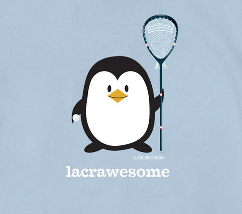 Penne the Penguin Lacrawesome Baby Onesies