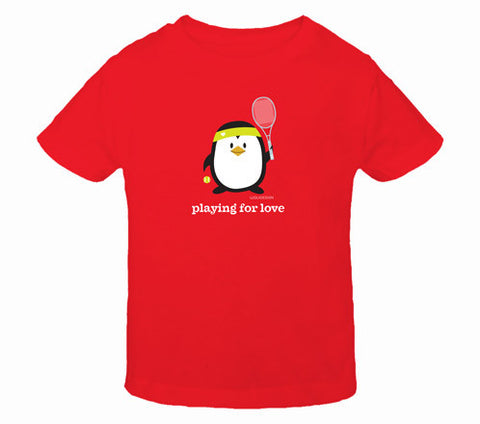 Penne the Penguin Playing For Love Toddler T-Shirts