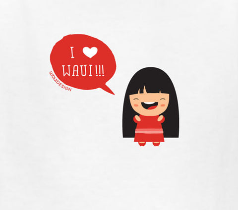 Mae I Heart Waui Design Kids T-Shirts