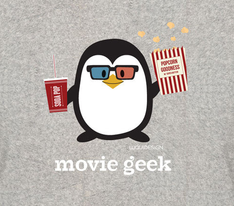 Penne the Penguin Movie Geek Women's T-Shirts