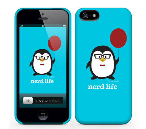 Penne the Penguin Nerd Life iPhone Cases by Waui Design