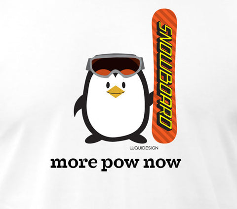 Penne the Penguin More Pow Now Men's T-Shirts