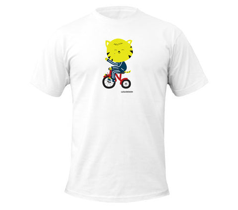 Thom Kitten Tricycle Wave Men's T-Shirts