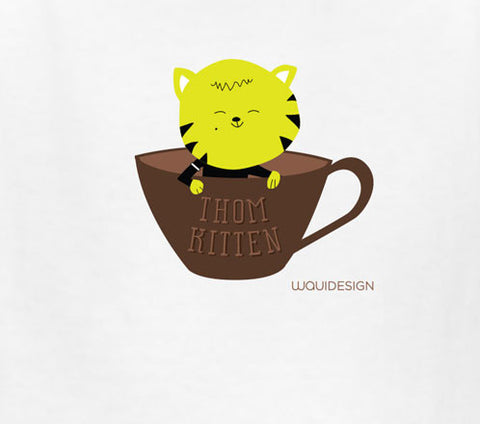 Thom Kitten In A Cup Kids T-Shirts