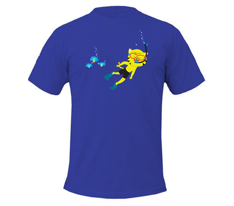 Thom Kitten Scuba Diver Men's T-Shirts