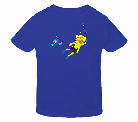Thom Kitten Scuba Diver Toddler T-Shirts