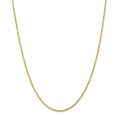 10K Gold Rope Chain 22""