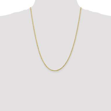 10K Gold Rope Chain 24""