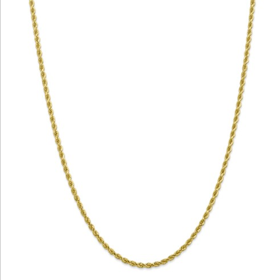 10K Gold Rope Chain 26""