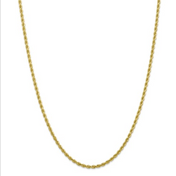 10K Gold Rope Chain 28""