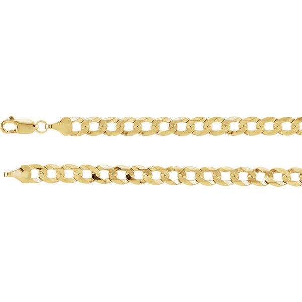 10K Gold Cuban Link Chain 22'' 5mm 9 g /approximated