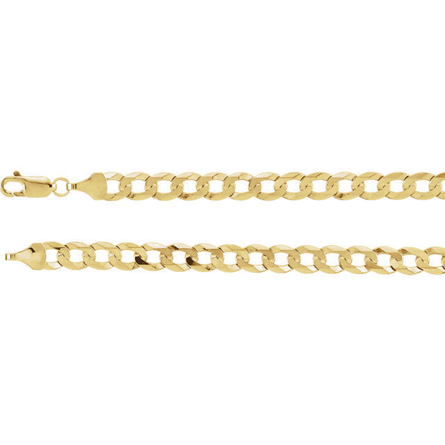 10K Gold Cuban Link Chain 28'' 5mm 8.5g Approximated