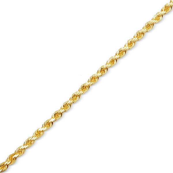 10K Gold Rope Chain 24'' 3mm 3.8g Approximated