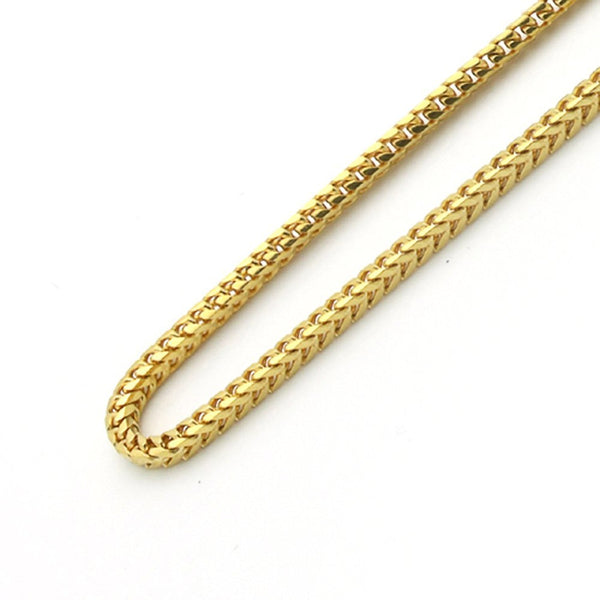 10K Gold Franco Chain 24'' 4mm 21.6g Approximated