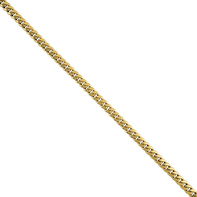 14K Gold Miami Cuban Chain 22'' 4mm 9.6g Approximated