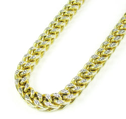 10K Gold Diamond Cut Franco Chain 30'' 4mm 27.5g    Approximated