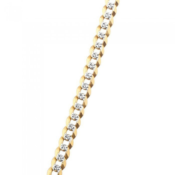 Diamond Cut Cuban Link Bracelet 8''