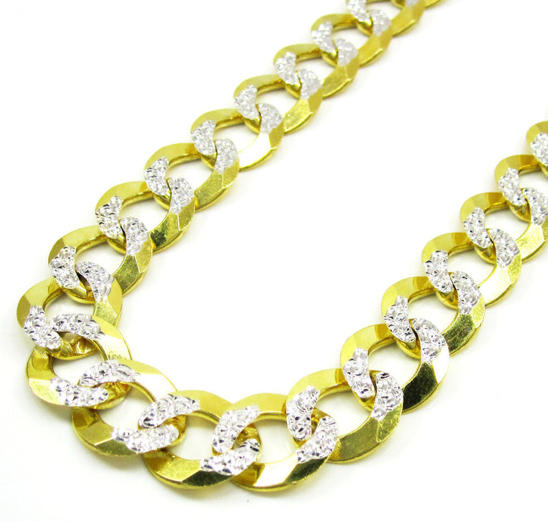 10K Gold Diamond Cut Cuban Link Chain 26'' 10mm 35.2g Approximated