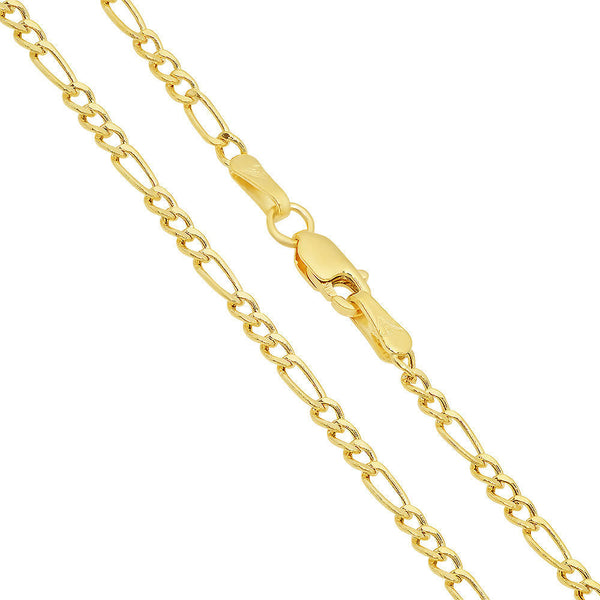 10K Yellow Gold Figaro chain 24'' 2mm 1.6g Approximated
