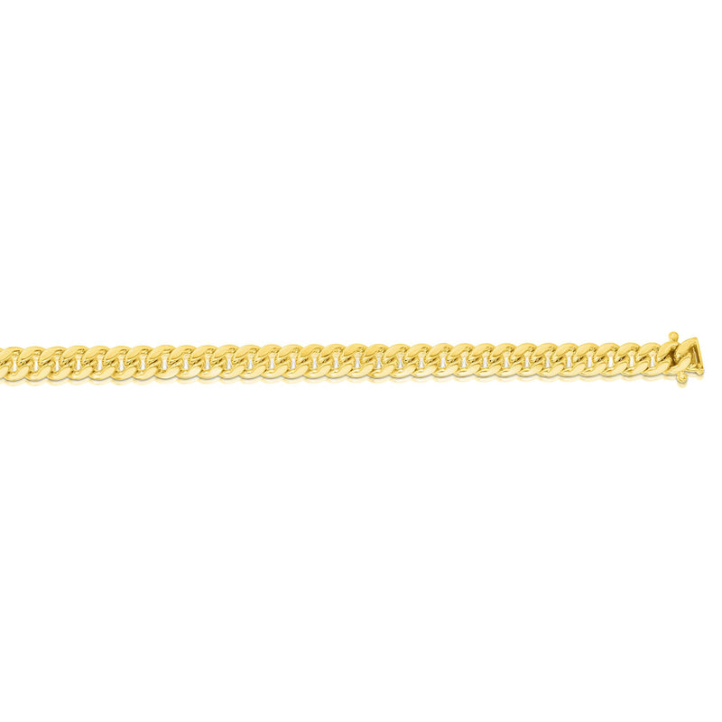 14kt Gold 8.5 inches Yellow Finish 6.1mm New Miami Cuban Bracelet with Box Clasp