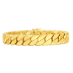 14kt Gold 8.25 inches Yellow Finish 13mm Polished Miami Cuban Bracelet with Box+Figure 8 Clasp