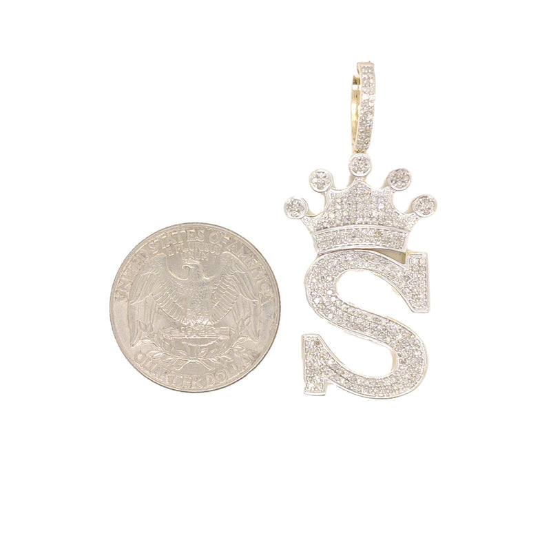 10K Yellow Gold Diamonds S Letter Charm
