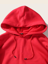 Load image into Gallery viewer, Red Full Sleeve Unisex Hoodie with Kangaroo Pocket