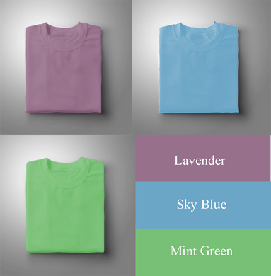Lavender : Sky Blue : Mint Green Pack Of 3 Solid T-shirts