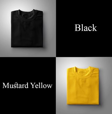 Black : Yellow Pack Of 2 Solid T-shirts