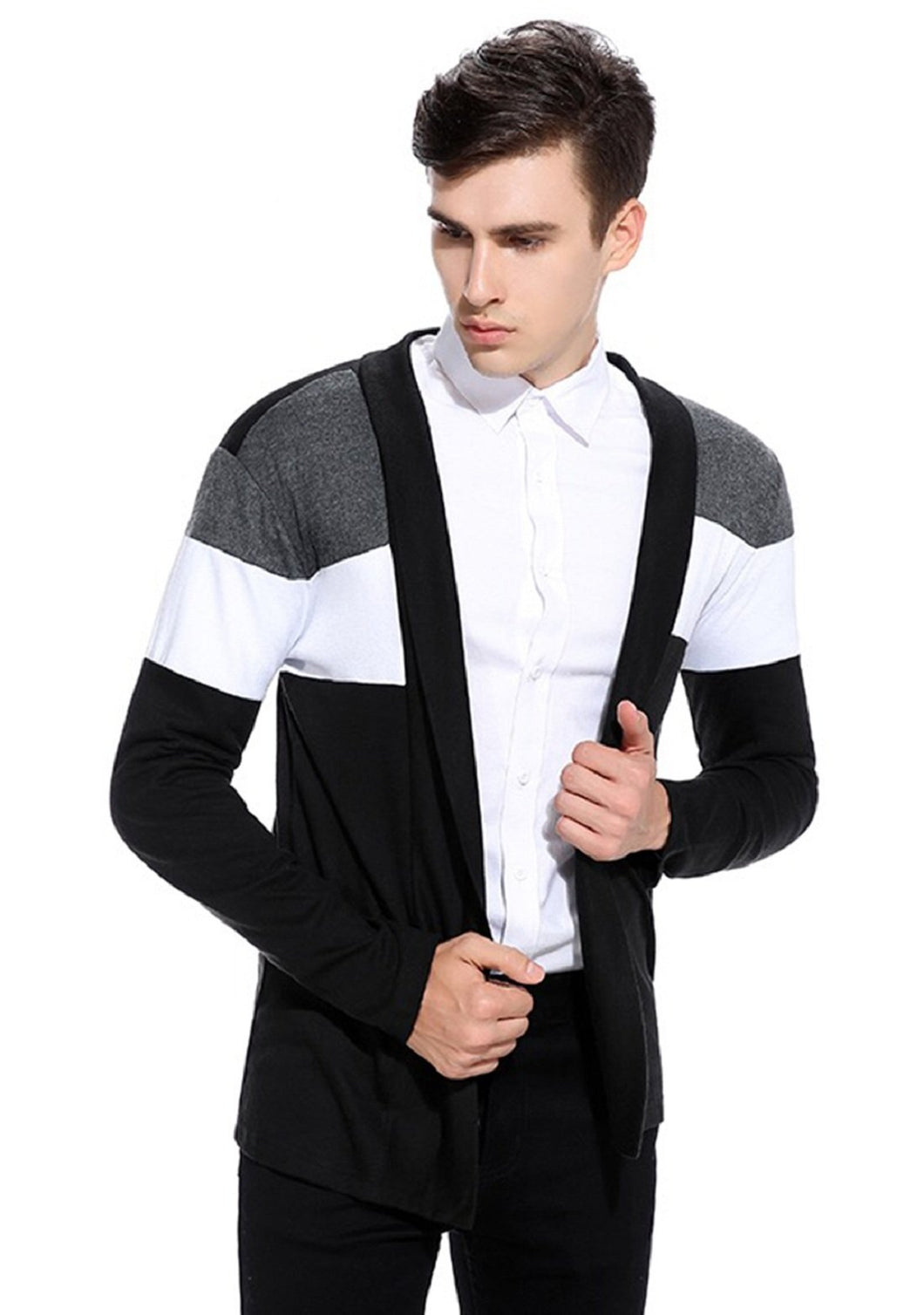 Multi Colour Open Long Cardigan Full Sleeve Shrug for Men
