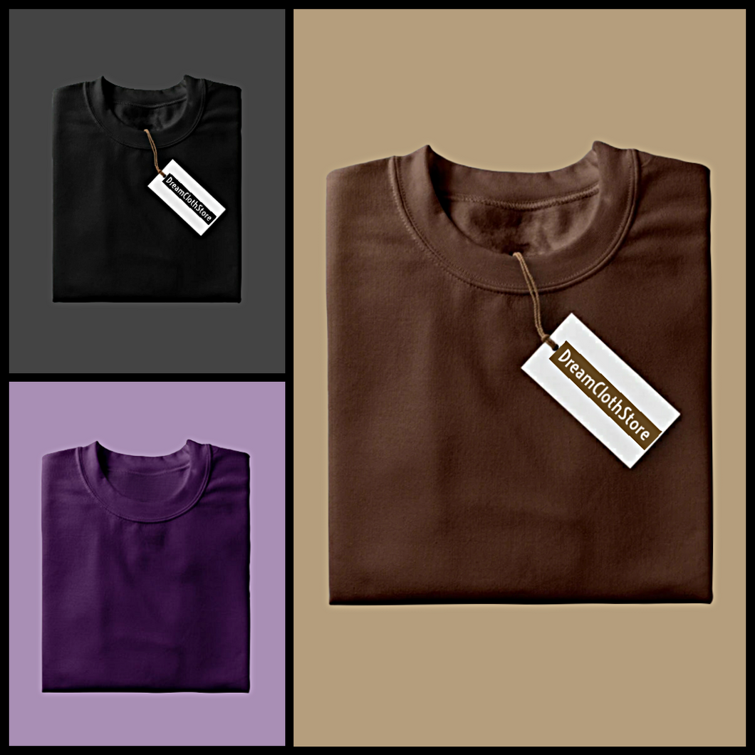 Black : Coffee : Purple - Full Sleeves T-shirts Combo