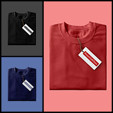 Load image into Gallery viewer, Black : Red : Navy Blue - Full Sleeves T-shirts Combo