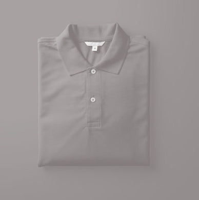 Milange Grey - Polo Neck Half Sleeve T-shirt