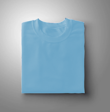 Mint Blue Plain Solid T-shirt