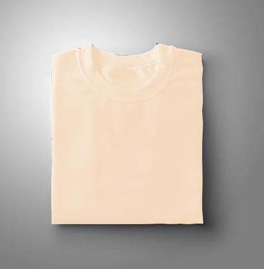 Peach Plain Solid T-shirt