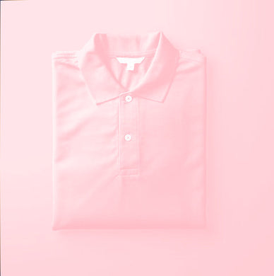 Pink - Polo Neck Half Sleeve T-shirt