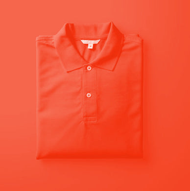 Red - Polo Neck Half Sleeve T-shirt