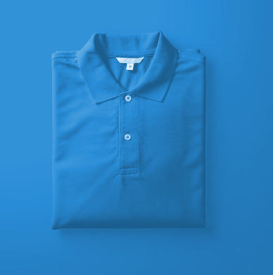 Sky Blue - Polo Neck Half Sleeve T-shirt