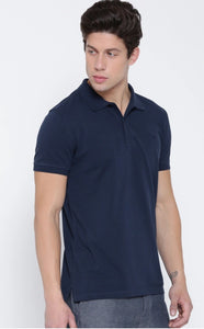 Black : White : Navy Blue-Polo T-shirt Combo