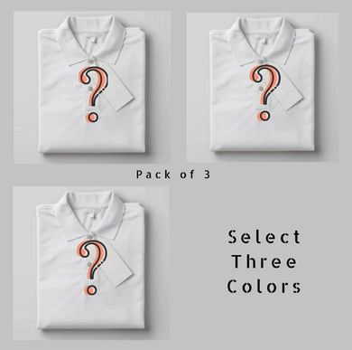 Choose Your Pack Of 3  - Polo T-shirt Combo