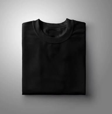 Black Plain Solid T-shirt