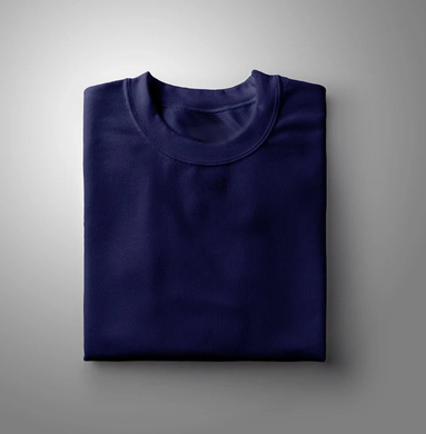 Navy Blue Plain Solid T-shirt