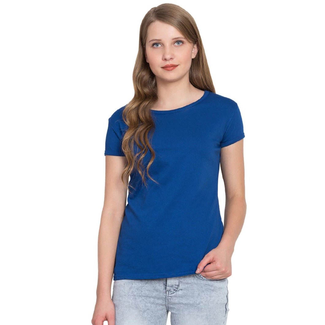 Royal Blue Crew Neck Short Sleeve T-shirt