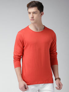 Black : Red : Navy Blue - Full Sleeves T-shirts Combo