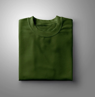 Olive Green Plain Solid T-shirt
