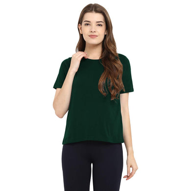Olive Green Crew Neck Short Sleeve T-shirt